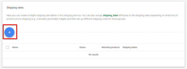 example of adding shipping rates